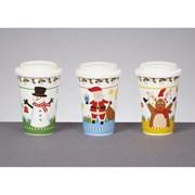 Premier Santa Snowman Reindeer Travel Mug (MO162330)