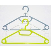 Russel Plastic Hangers Set Of 6 Green White Grey (PT3306)