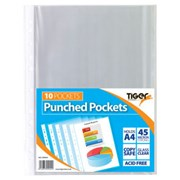 Punched Pockets A4 10s (300944)