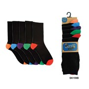 R.mens 5pk Contrast Heel Socks (SK159)