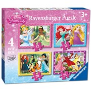 4 in 1 Box Disney Princess Puzzle (07397)