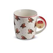 Cooksmart Red Red Robin Barrel China Mug Multi (1163)