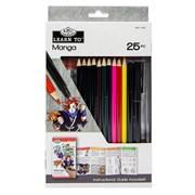 Royal Brush Learn To Set Manga 25pce (RSET-LT262)
