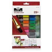 Royal Brush Learn To Set Watercolour Cake 29pce (RSET-LT258)