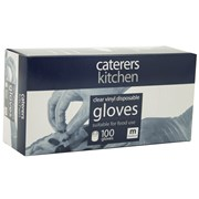 Caterers Kitchen Ck Vinyl Gloves Clear Medium 100s (10185)