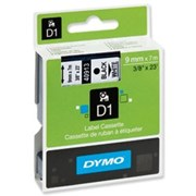 D1 Labels Black On White 9mm (S0720680)
