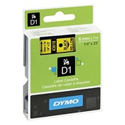 D1 Labels Black On Yellow 6m (S0720790)