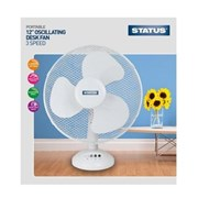 "Status 12"" White Desk Fan (S12DESKFAN1PKB)"