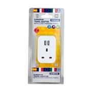 Status European Plug Through Socket & Usb Adapter (S2USBPTEURO1PK3)