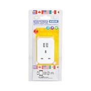Status Intercont Plug Through Socket & Usb Adapter (S2USBPTINTER1PK3)