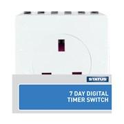 Status 7 Day Digital Plug In Timer (S7DDT3)