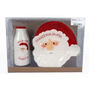 Santa Plate & Milk Bottle Set (XMC0134)