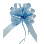 "Sateen Pull Bows Baby Blue 2"" (PB5881)"