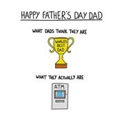 Fathers Day Worlds Best Dad (SDF044W)