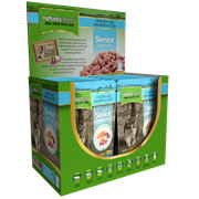 natures:menu Senior Cooked Food Pouches For Cats Salmon & Cod 100g (SEN400)
