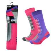 Ladies 2 Pack Ski Socks (SK069)
