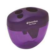 Snopake Triple Hole Canister Sharpener Purple (40228)
