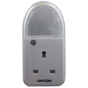 Uni-com Soft White Plug Through Night Light (62745)