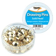 Solid Head Drawing Pins Tub (100s) (302003)