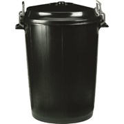 G F.polyethylene Cliplid Bin Large (SP100BK)