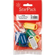 Starpack Red Key Ring Tags & Ring 8s (72158)