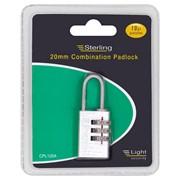 Sterling Locks Brass Combination Padlock 20mm (CPL120)