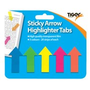 Sticky Highlighters Neon Tabs Arrow Strip (301470)