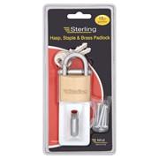 Sterling Locks Hasp & Staple with Padlock (PHS002)