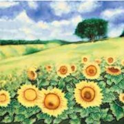 Benaya Tiles Sunflower Field 8x8 (BE520814)