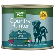 natures:menu Country Hunter Dog Food Cans Succulent Duck 600g (NMCDP)