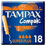 Tampax Compak Super Plus Pmp 2.99 18's (57767)