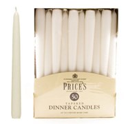 "Prices 10"" White Tapered Dinner Candle 50s (TDC005028)"