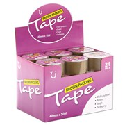 Tj Brown Parcel Tape 48mm x 50m (TJ04)