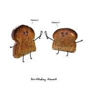 Birthday Toast Card (TLSSLICE01)