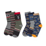Totes Isotoner Mens 3 Pair Pack Day Socks Asstd (3407A)