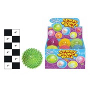 Spikey Bouncing Ball With Light And Squeeker (TY1341)