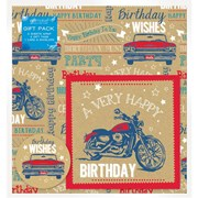 Vehicles 2sheet Wrap/tag/card Set (Y8GMS907)