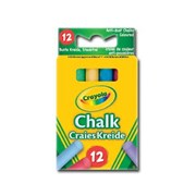 Crayola Anti Dust Chalk Assorted Colours 12s (01.0281)