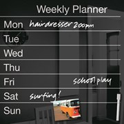Cathedral Magnetic Memo Planner Glass Board Black 50x50c (WALGLWPBK)
