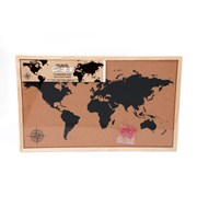 Framed Cork Board Map 37x60 (WP1915)