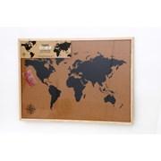 Framed Cork Board Map 50x70 (WP2201)