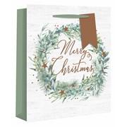 Alpine Wreath Gift Bag Med (X-25074-3)