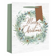 Alpine Wreath Gift Bag P/fume (X-25074-9)
