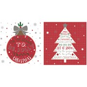 Bauble Christmas Cards In Acetate Box 12s (X-25356-BC)