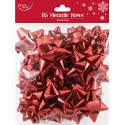 Red Metallic Bows 16s (X-25395-B)