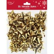 Gold Metallic Bows 16s (X-25401-B)
