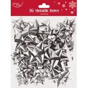 Silver Metallic Bows 16s (X-25404-B)
