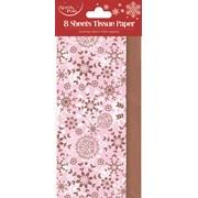 Pink Snowflake Tissue Paper 8sheet (X-26025-TP)