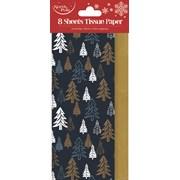 Navy Trees Tissue Paper 8sheet (X-26028-TP)