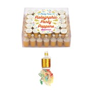 Henbrandt Gold Holographic Party Poppers 72s (X39085)